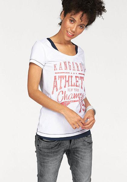 KangaROOS nyomott mintás póló(szett, 2db-os, toppal)