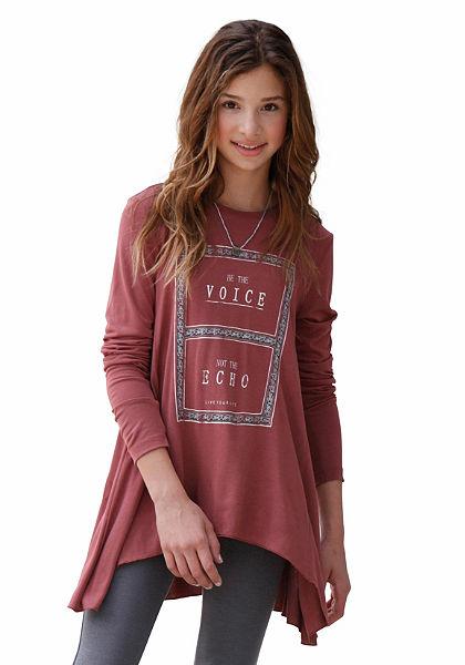 Buffalo Dlhé tričko s kontrastným panelom, pre dievčatá