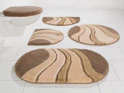 Fürdőszobaszőnyeg, kerek, my home, »Rosalia«, vastagság 20 mm, csúszásgátló hátoldallal