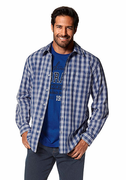 Man's World kockás ing (szett, 2db, pólóval)