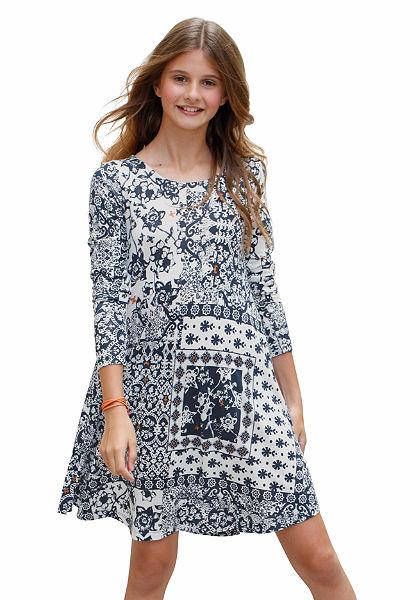KIDSWORLD Šaty v štýle patchwork, pre dievčatá