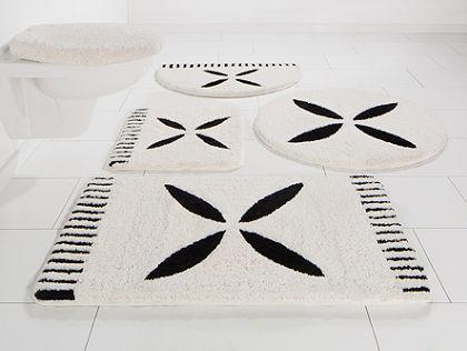Fürdőszobaszőnyeg, 3 részes függő WC szett, Bruno Banani, »Svenla«, magasság 20mm, mikroszálas, csúszásmentes hátoldal