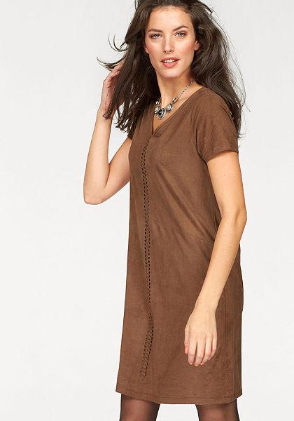 Aniston műbőrruha