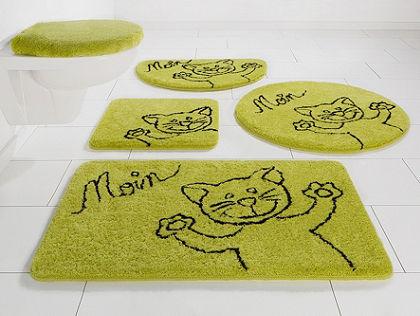 Fürdőszobaszőnyeg, 3 részes függő WC szett, my home, »Katze«, magasság 15 mm, csúszásgátló hátoldal