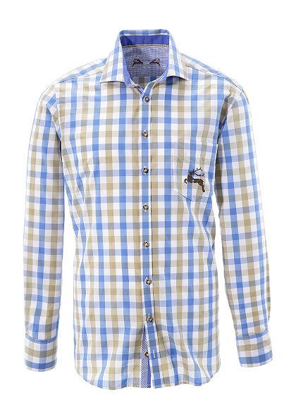 OS-Trachten Krojová košeľa s potlačou jeleňa