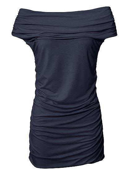 Alakformáló carmen nyakkivágású póló