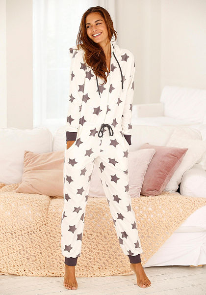 Álomszép pizsama, Vivance Dreams, puha polár anyagból, szép csillag mintás