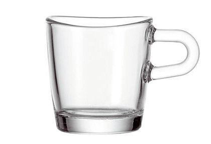 Szett :  üveg eszpresszó csésze, Leonardo, »Loop« (6 részes)