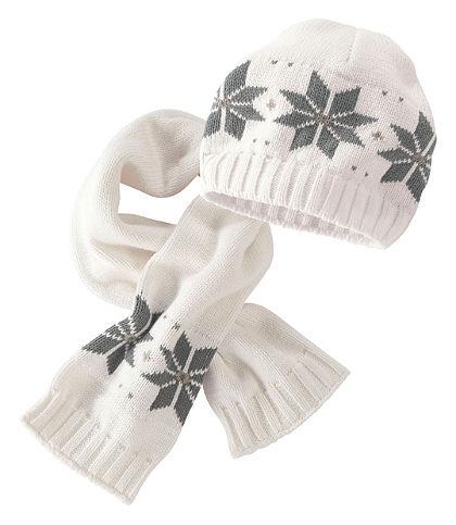Klitzeklein Pletená čiapka a šál