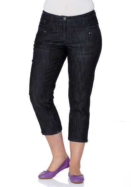 sheego Denim 7/8-os sztreccs farmernadrág