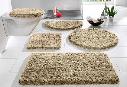 Fürdőszobaszőnyeg, függő WC szett, my home, »Sanremo«, magasság 30mm, mikroszálas, csúszásgátlós hátoldal