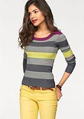AJC Csíkos pulóver